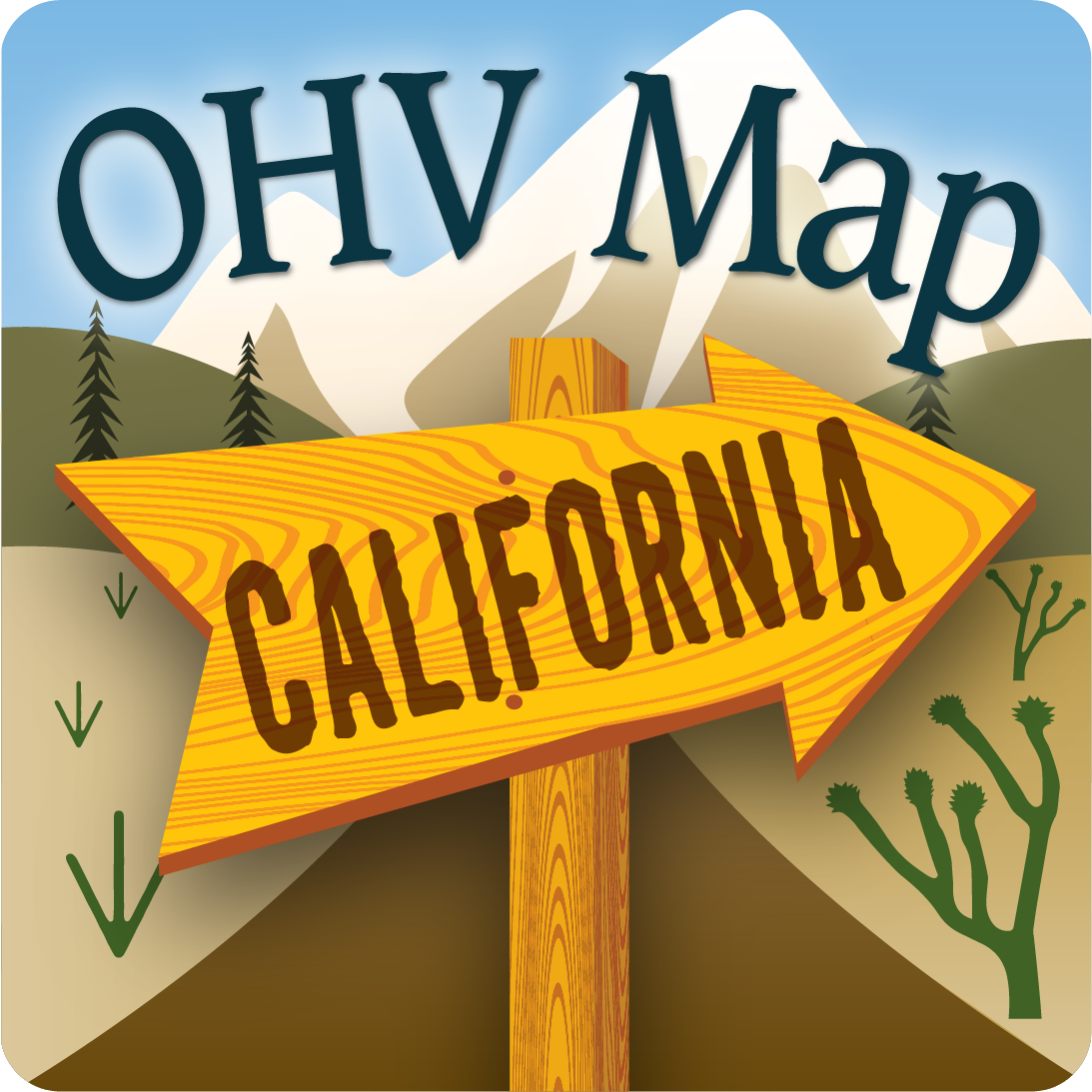 OHV Trail Map California App Icon