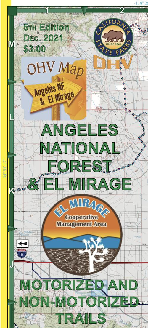 CTUC Map: Angeles National Forest & El Mirage Areas
