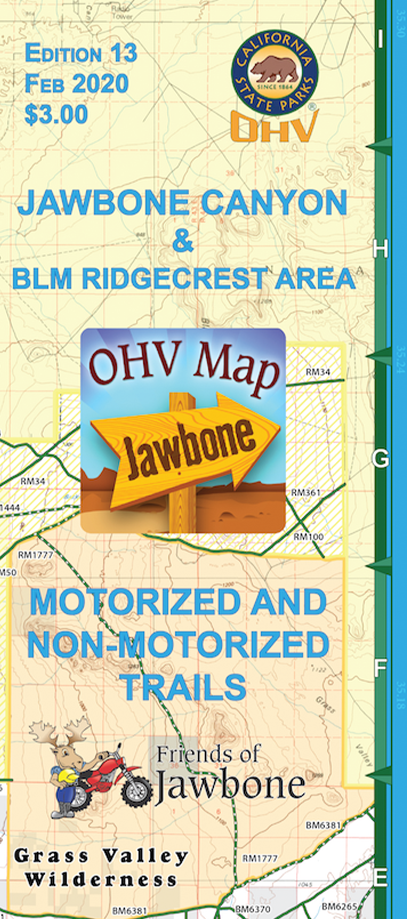 Friends of Jawbone OHV Map