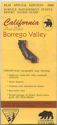 BLM: Borrego Valley Map