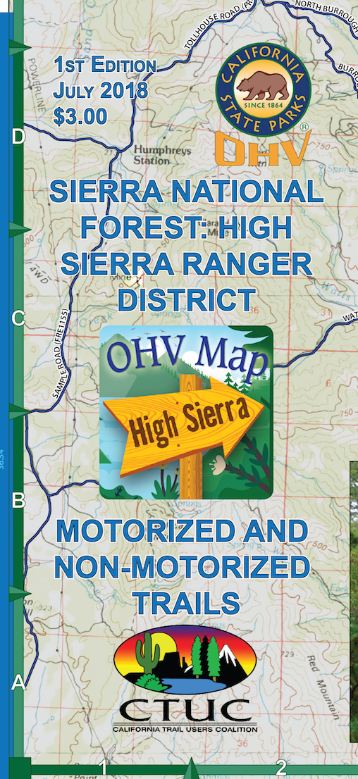 CTUC Map: Sierra National Forest: High Sierra Ranger District